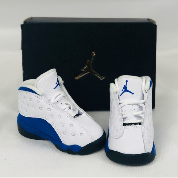 new concept d4aca 3a356 Infant Jordan 13s Royal Blue New White Black NWT